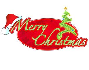 Christmas sign illustration design