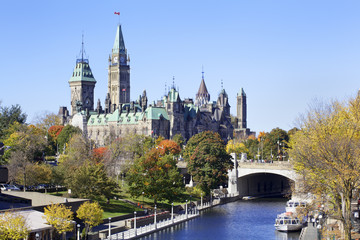 Poster de jardin Canada The Parliament of Canada and Rideau Canal, Ottawa