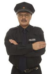 Polizist mit neuer Uniform