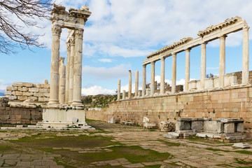 Pergamon Greek Ruins in Turkey
