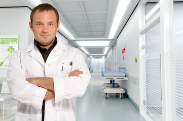 Doctor at hospital corridor