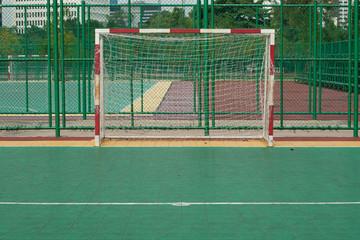 Landscape of football goal