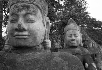 Benevolent Faces of the Causeway, South Gate Angkor Thom