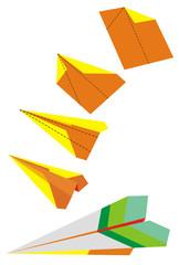 scheme paper airplane