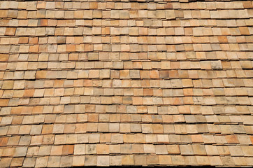 Earthenware tile roof.Valuable antiques.