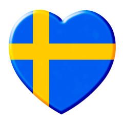 Herz schweden sweden fahne flag