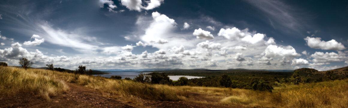 Landscape of Akagera National Park, Rwanda