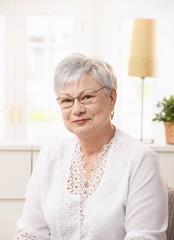 Portrait of pensioner woman
