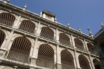 Courtyard facade of historic University - Alcalà de Henares