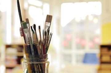 Painting Art Brushes in the Jar