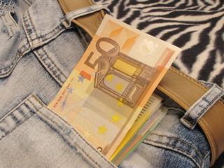 euro 50 in pocket