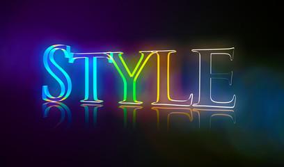 3D Typografie Style