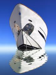 Fototapete - yacht on sea