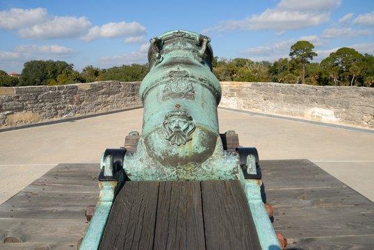 mortar cannon at castillo de san marcos st augustine fl