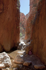 stanley chasm next to alice springs in the australian outabck