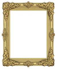 Art frame award blank isolated on white