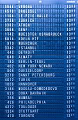 Depature schedule board in airport
