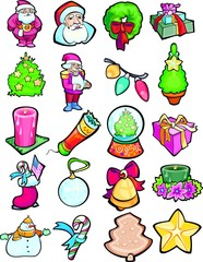 Christmas. Set of colour vector images.