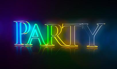 3D Typografie Nachtleben