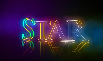 3D Typografie Star