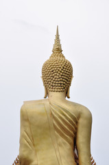 Back of Walking Buddha statue, Thailand