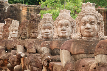 Demons Of The Causeway,South Gate, Angkor Thom.