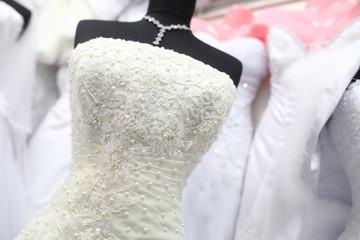 wedding dress at the shop