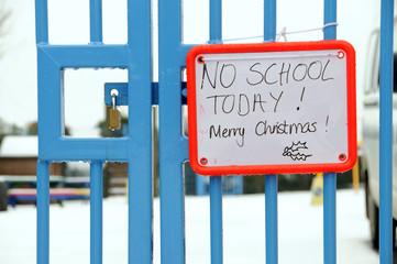 British school closed due to snow