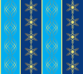 vector blue pattern with snowflakes