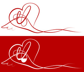 Love Card Heart & Wing