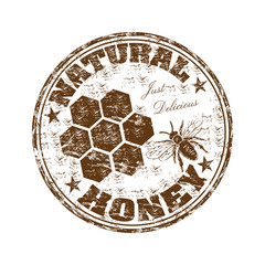 Natural honey rubber stamp