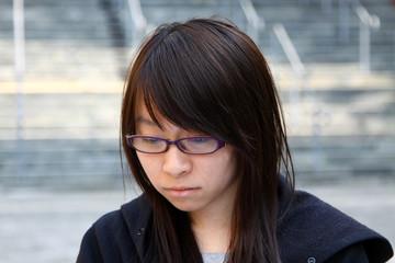 Sad Chinese girl