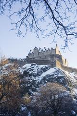 edinburgh castle in snow