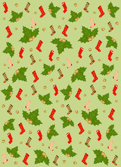 christmas background with socks