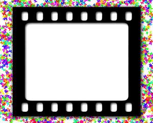 cornice nera pellicola farfalle