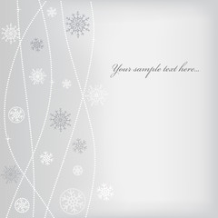 Christmas (New Year) design with snowflake. Space for text