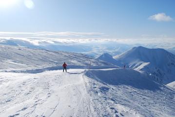 snow mountains in Turkey Palandoken Erzurum