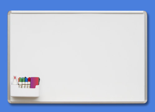 White board  isolated with shadow and clipping path