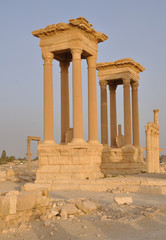 Tetrapylon in ancient city of Palmyra