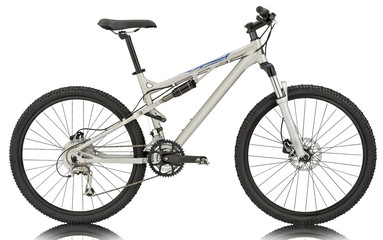 Sport silver bicycle