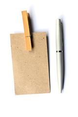 Brown Paper Wood Clip