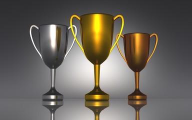 Die Drei Pokale - Gold Silber Bronze 02