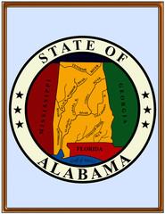 USA state alabama seal emblem coat