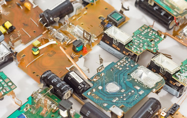background boards with electronic components