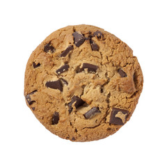 Chocolate Chip Cookie isolated with a clipping path