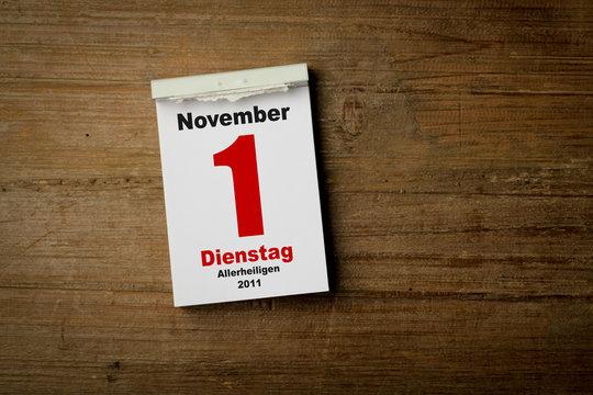1 November Allerheiligen