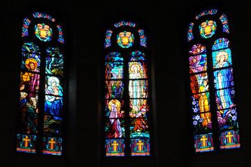 Foto op Plexiglas Stained France, église Notre-Dame de La Baule Escoublac