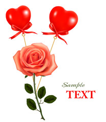 Valentine greeting card. Vector.
