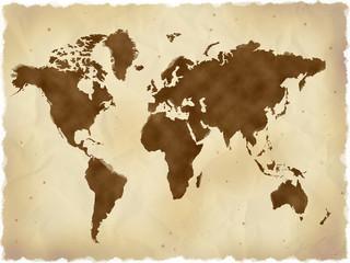 レトロな世界地図