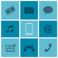 Smartphone diagram blue v1